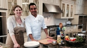 Cyndi Sterne with Israeli Chef Avi Bitton